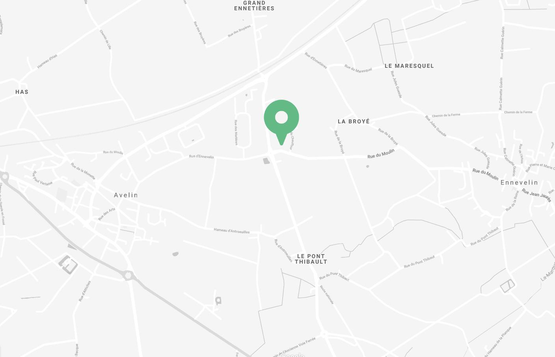 Carte pour situé Le Casier Français