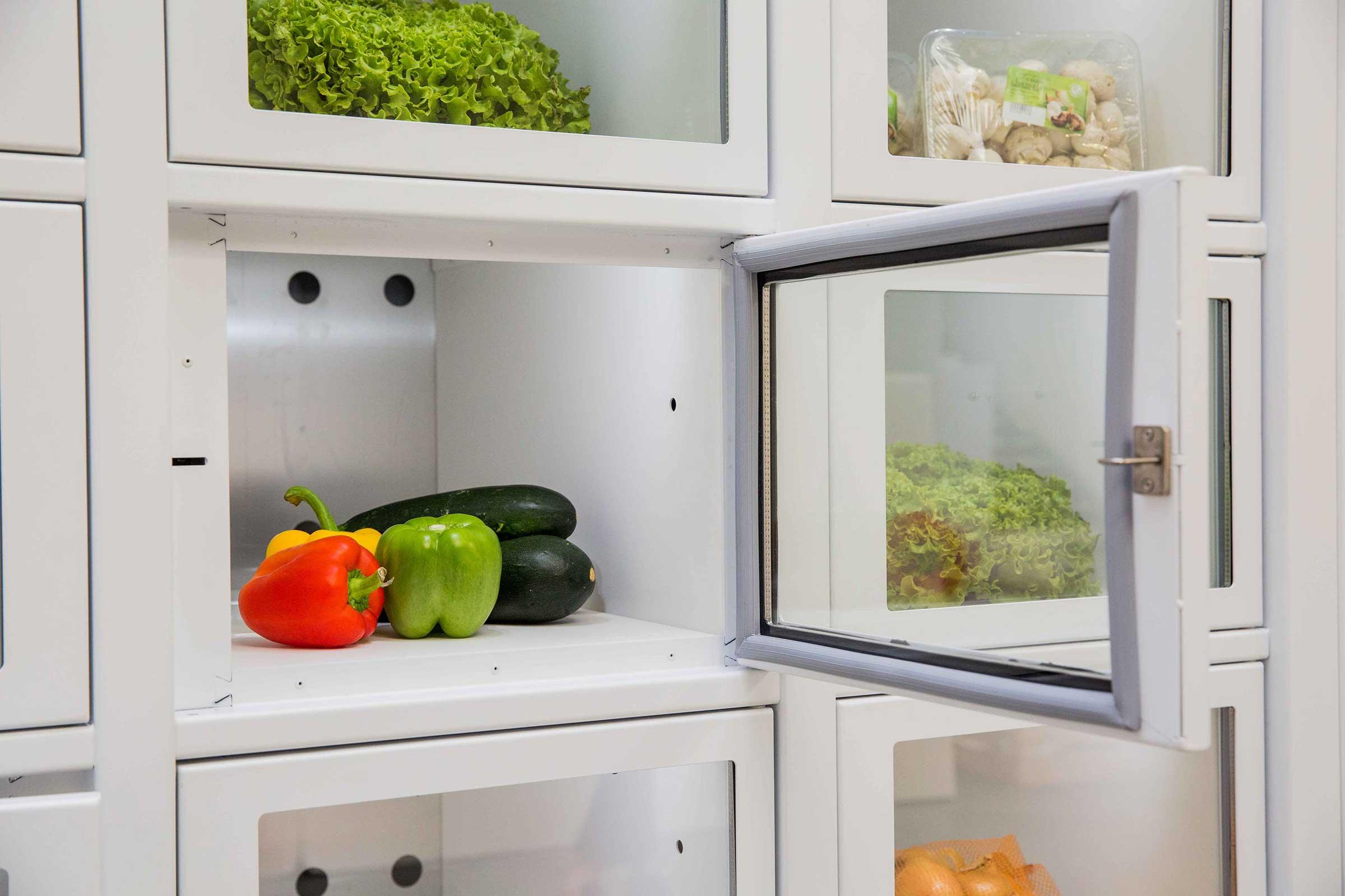 Légumes dans un distributeur automatique Le Casier Français