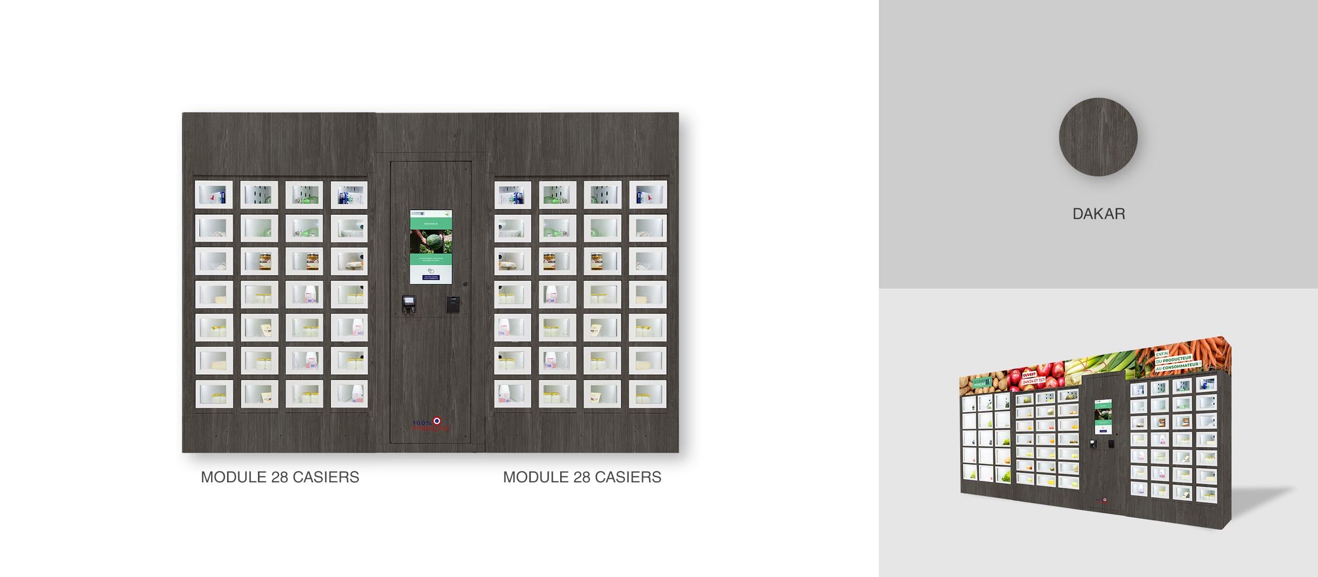 Habillage Dakar d'un distributeur automatique Le Casier Français