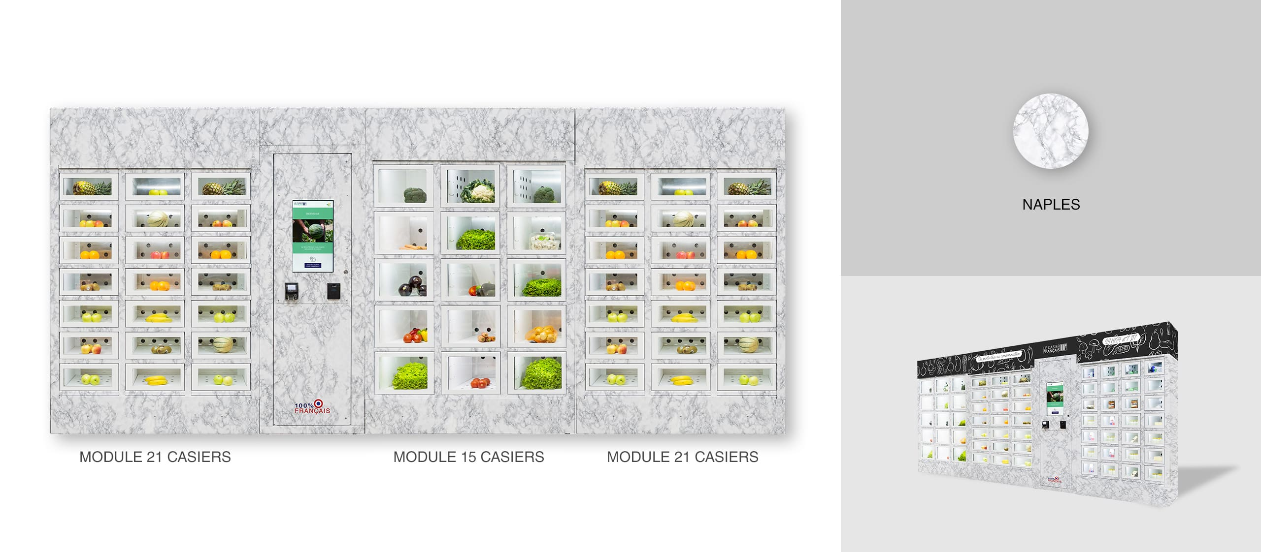 Habillage Naples d'un distributeur automatique Le Casier Français