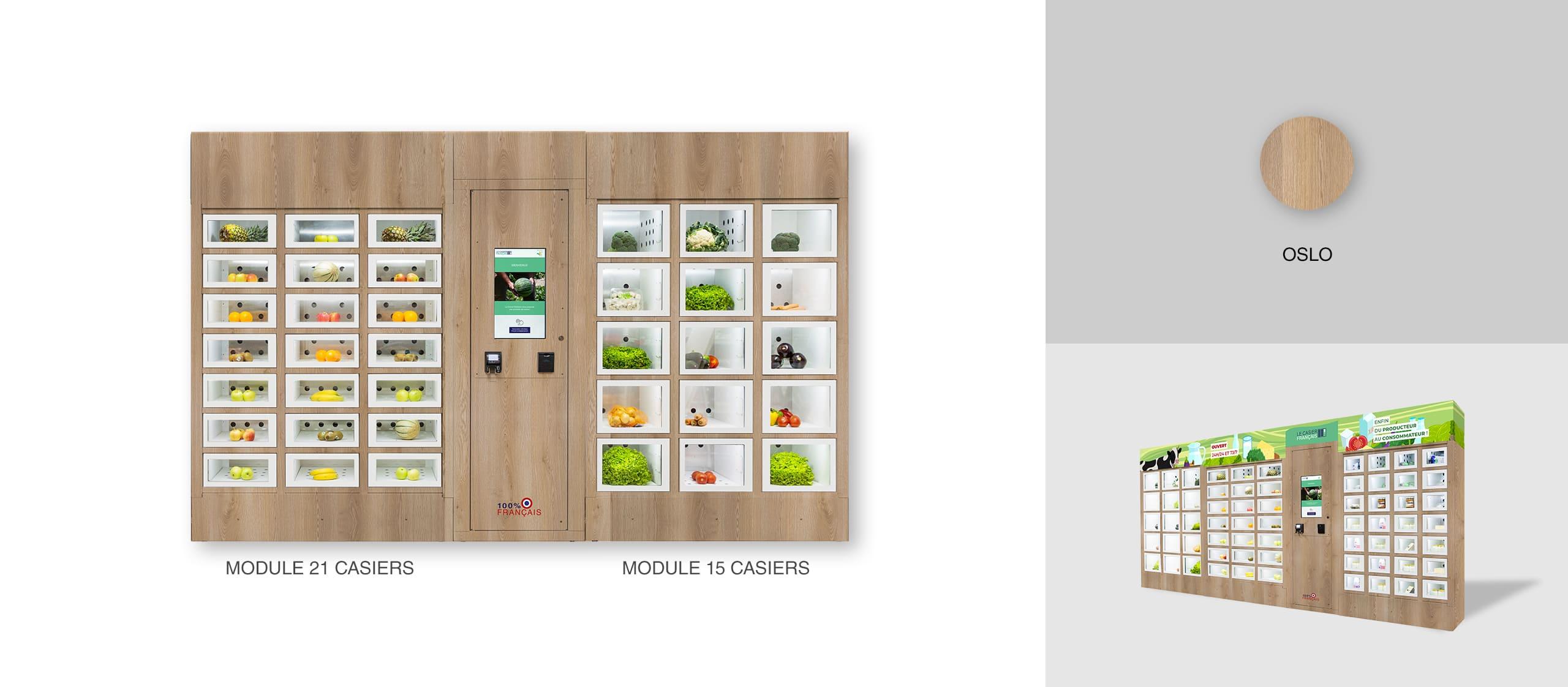 Habillage Oslo d'un distributeur automatique Le Casier Français