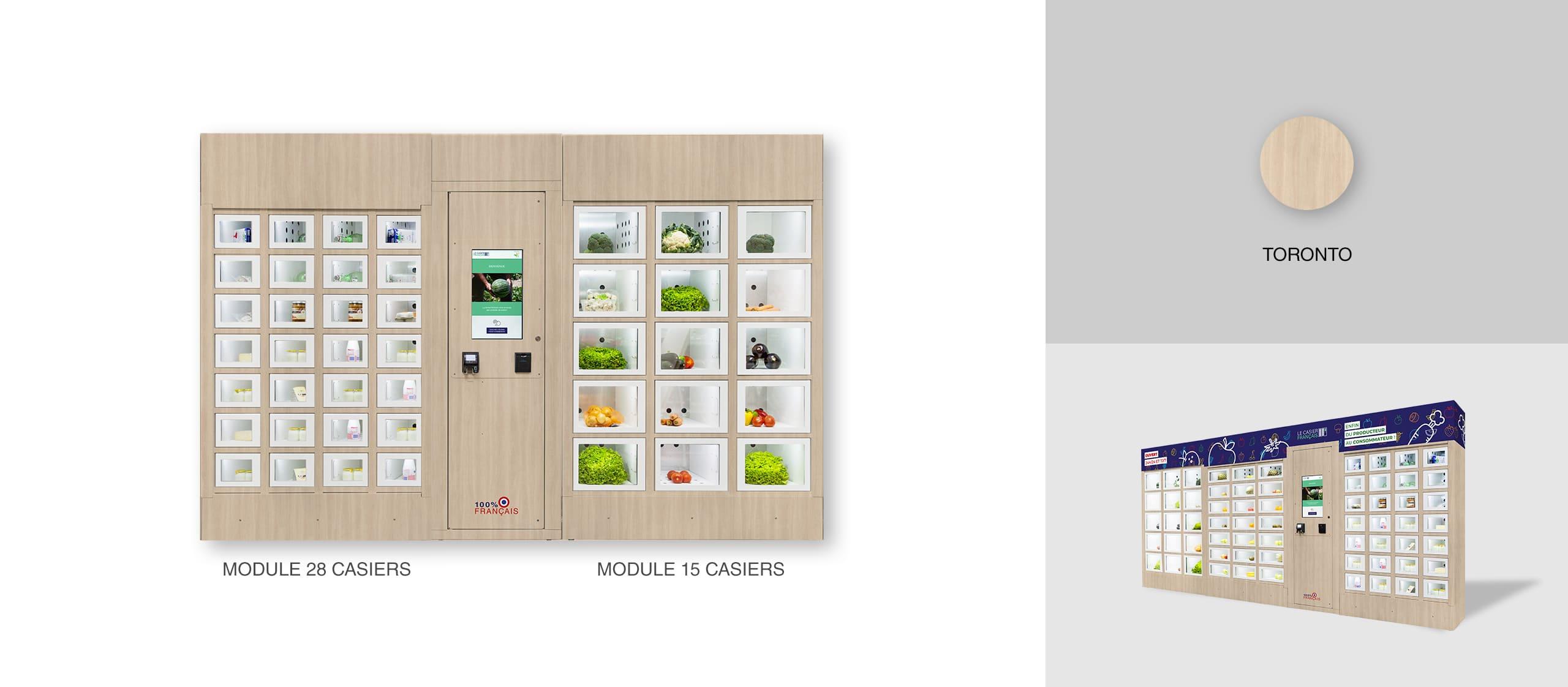 Habillage Toronto pour un distributeur automatique Le Casier Français