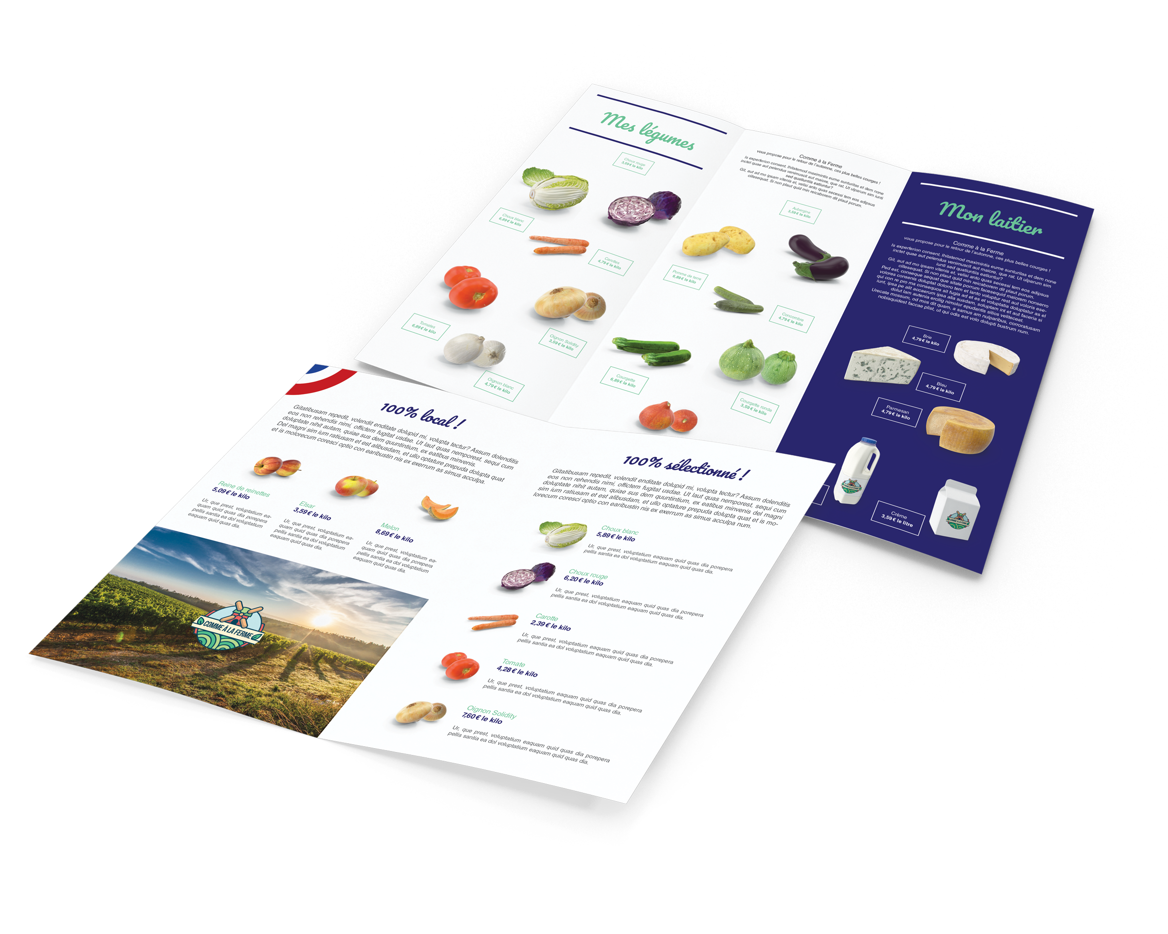 Les dépliants, une présentation de vos produits à la vente dans votre Casier Français